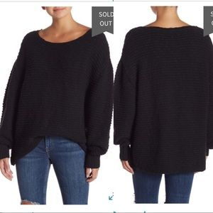 Free People Menace Oversized Chunky Sweater Tunic